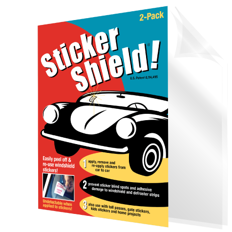 Sticker shield - apply, remove and reapply stickers.